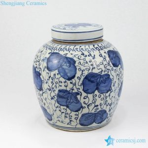 RZKT04-A Antique finish high skill hand painting home showcase ceramic jar