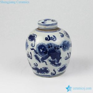 RZKT05-A Kylin pattern Jingdezhen design small cookie jar
