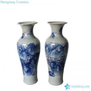 RZMK01 Hand painted waterfall in mountain pattern china giant vase
