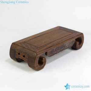 RZMR01 Rectangle shape wooden base for statue, bonsai