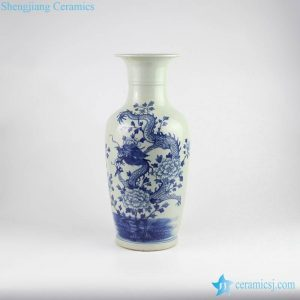 RZMW03-A Luxury hotel exhibition dragon floral blue and white vase