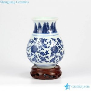 RZMX01 Cute blue and white ceramic floral vase
