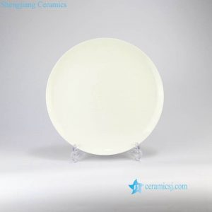 RZMZ01 Pure white bone china dinner plate