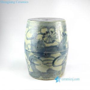 RZNA04 Stream of consciousness Chinese calligraphy pattern mottling ceramic stool