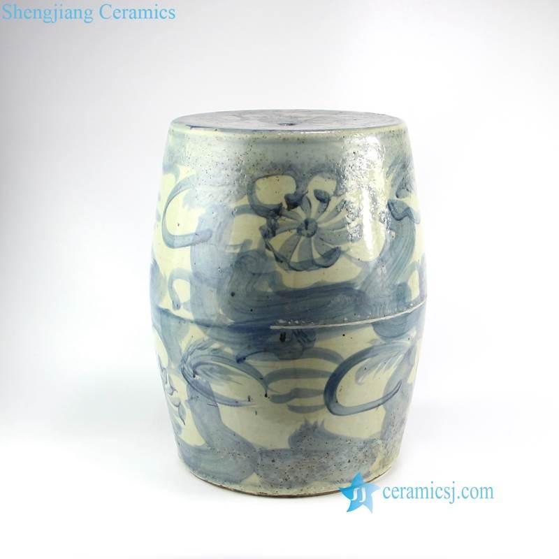 stream of consciousness pattern ceramic stool