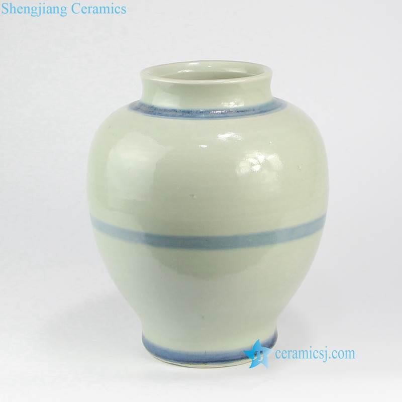 blue line porcelain vase