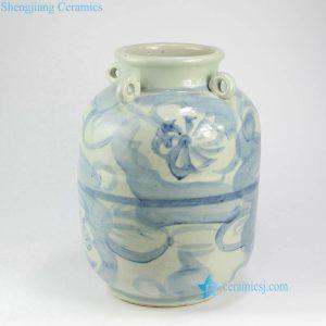 RZNA16 Floral Ming Dynasty hanging ceramic vase