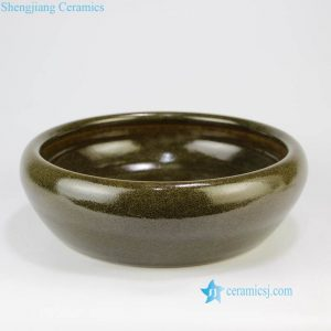 RZNB01 Matcha green tea dust glaze round ceramic water pot