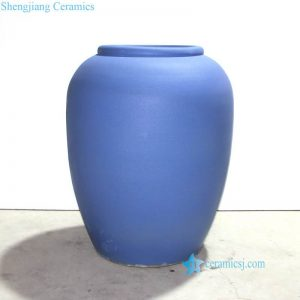 RZND01 Matte blue color client customize sample large ceramic pot