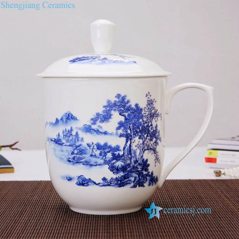 forest ceramic cup