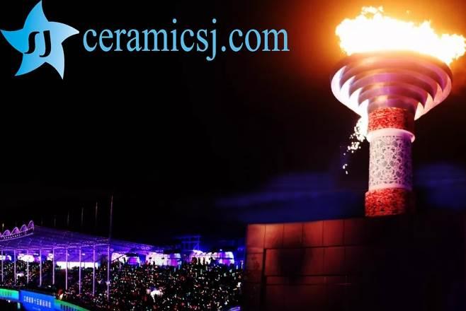 the torch of Jiangxi Provincial sport meeting