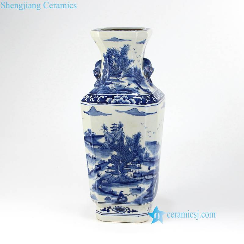 China life blue and white vase