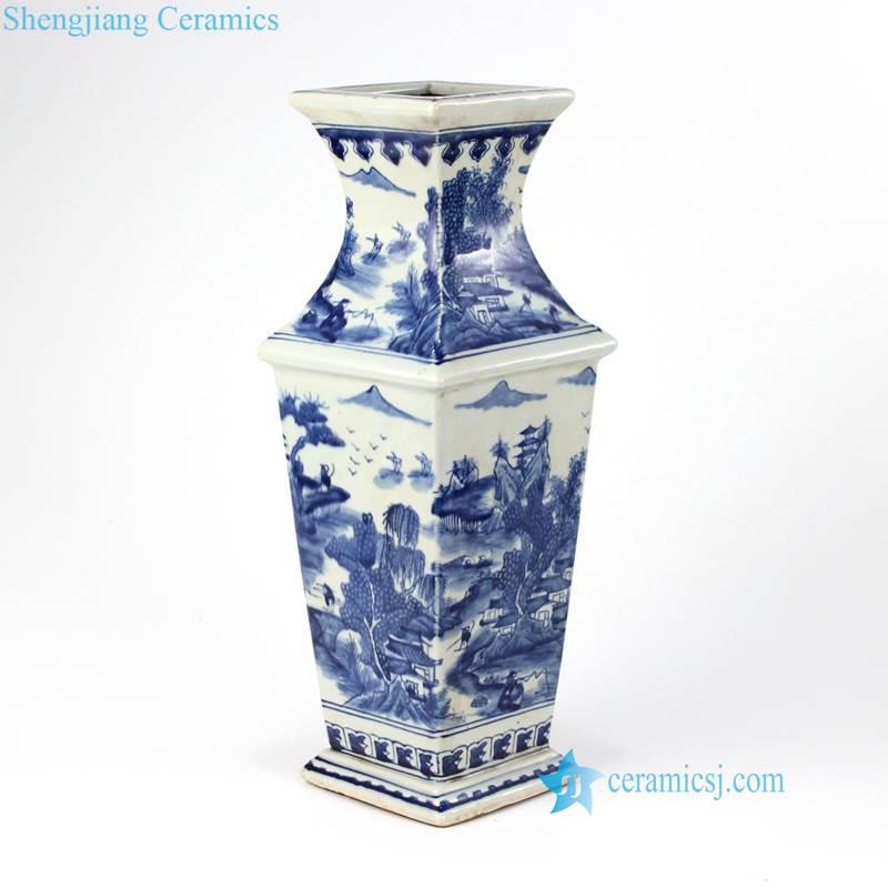 four sides ceramic vase