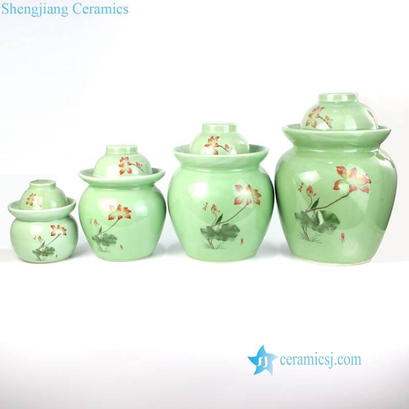 green sundries porcelain jar