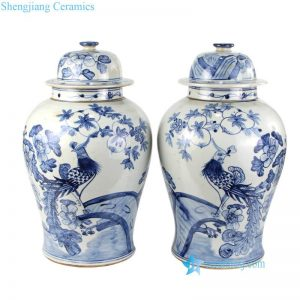 RZFI05-E Couple of phoenix hospitality project ceramic jar