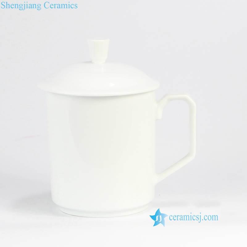 plain white color cup