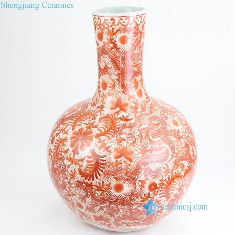 floral bulbous vase