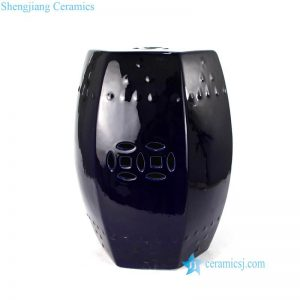 RZKL17 Indigo blue six sides ceramic barrel seat
