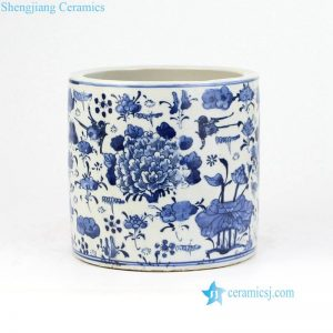 RZKT03-D Blue and white floral ceramic cheap vase