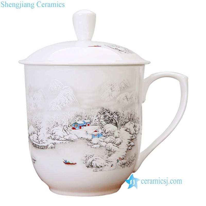 snow view ceramic mug