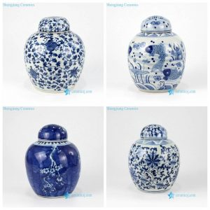 RZKY12 13 Mini round shape hand painted high quality ceramic ball jar