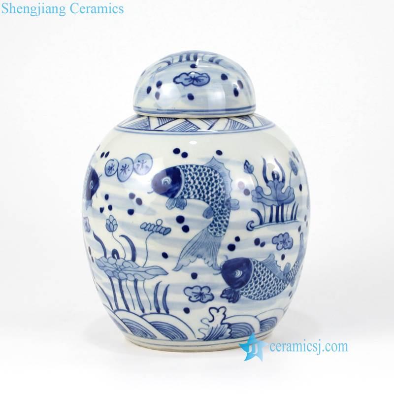 ceramic tea leaf jar