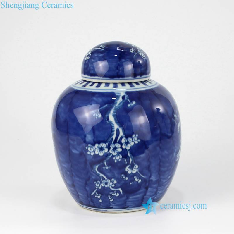 blue ceramic mini jar