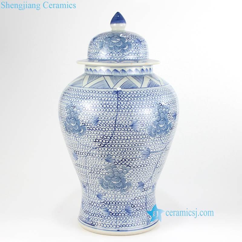 light blue temple jar