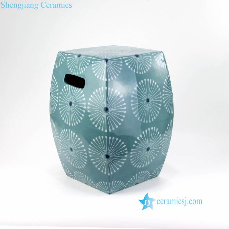 fireworks pattern square stool