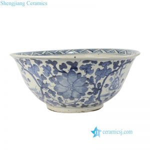 RZPJ03 Large hand painted crude clay material flower pottery pot