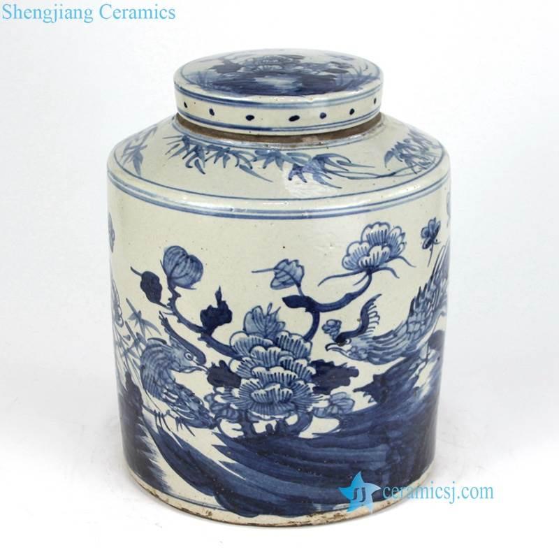 bird flower jar