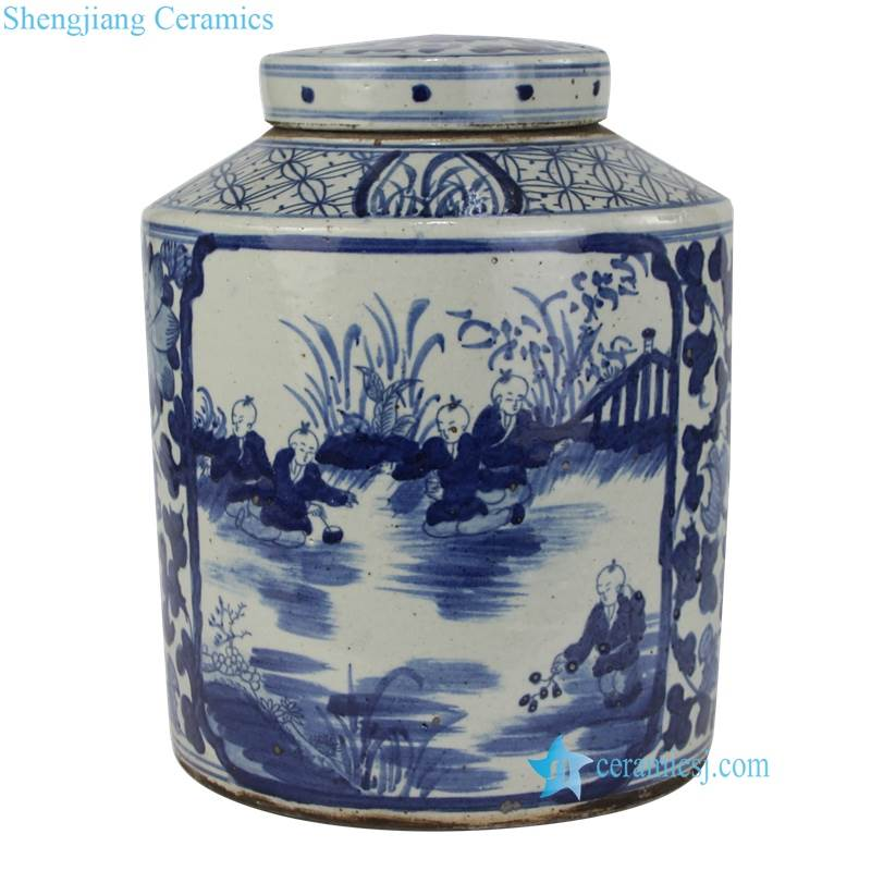 childhood ceramic jar