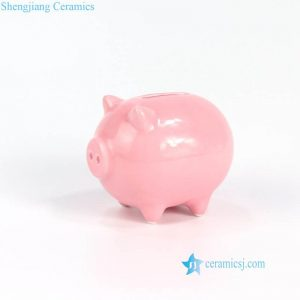 RZNE03 Pink swine ceramic saving pot for 2019 the year of pig company present