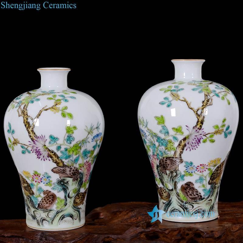 famille rose porcelain vase
