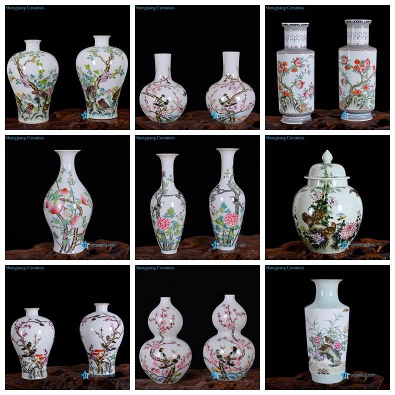 high end famille rose vase