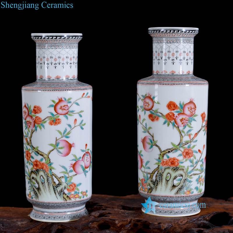 pomegranate porcelain vase