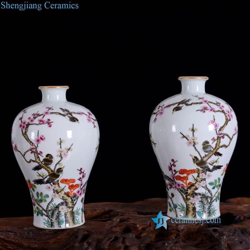 cherry blossom ceramic vase