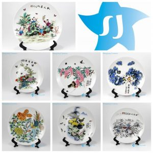 pukoo-001-E-K China style home decoration ceramic display plates
