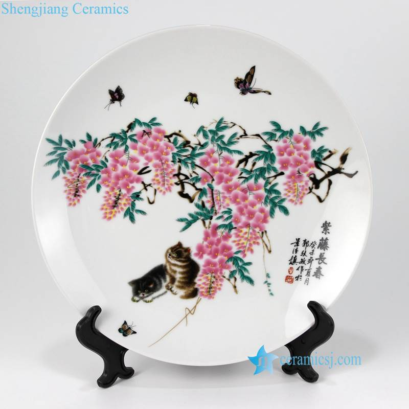 pukoo-001-E-K China style home decoration ceramic display plates