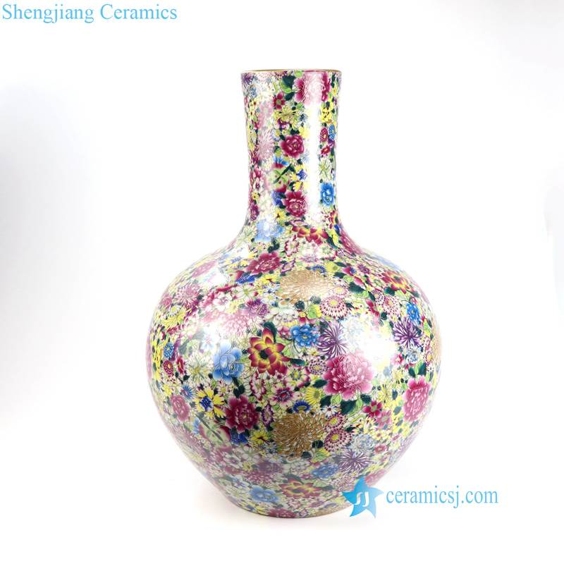 hundreds flowers porcelain vase