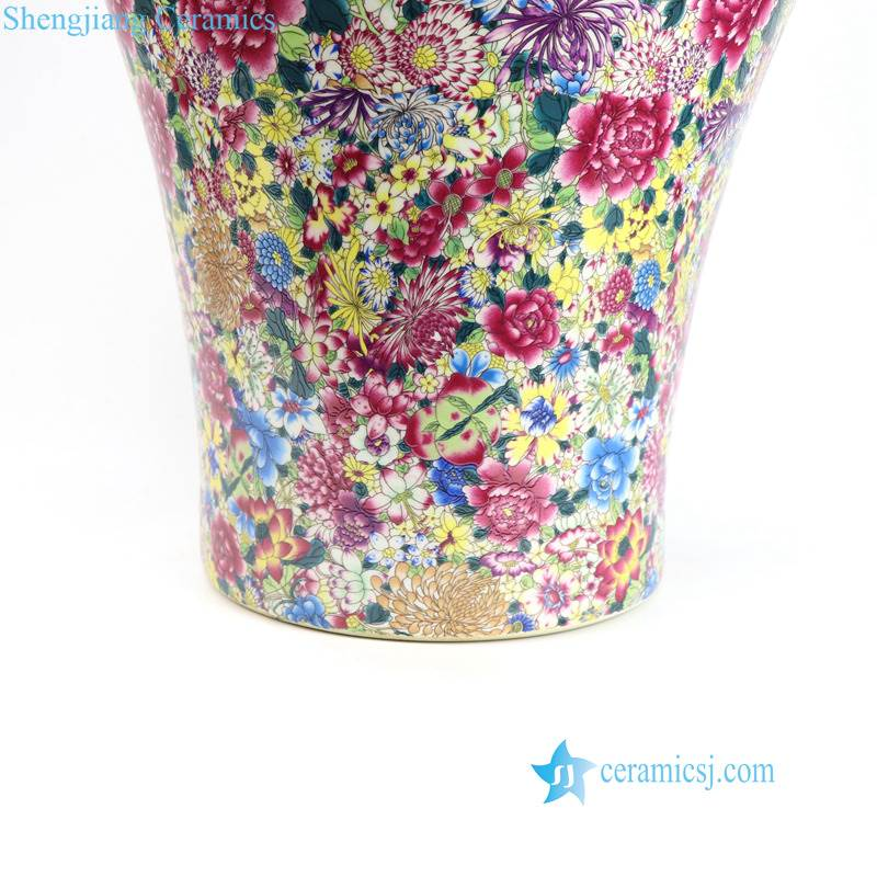 different color flower porcelain vase