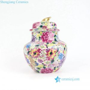 RYRK32 Thousands beautiful flower pattern ceramic mini jar