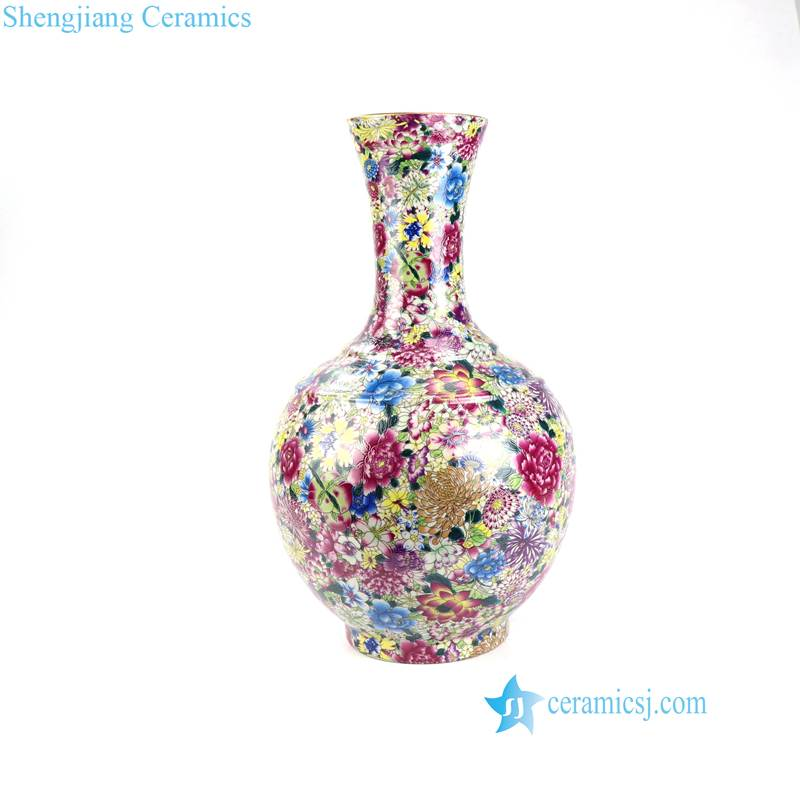 RYRK28-41 Thousands and hundreds colorful flower pattern ceramic vase