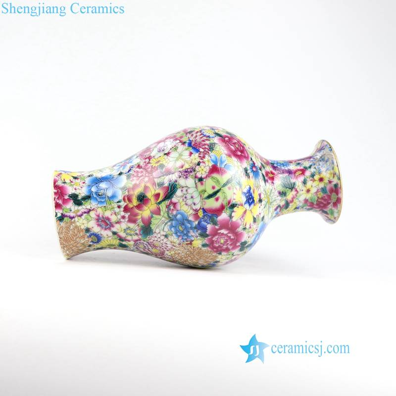 fish tail shape ceramic colorful vase
