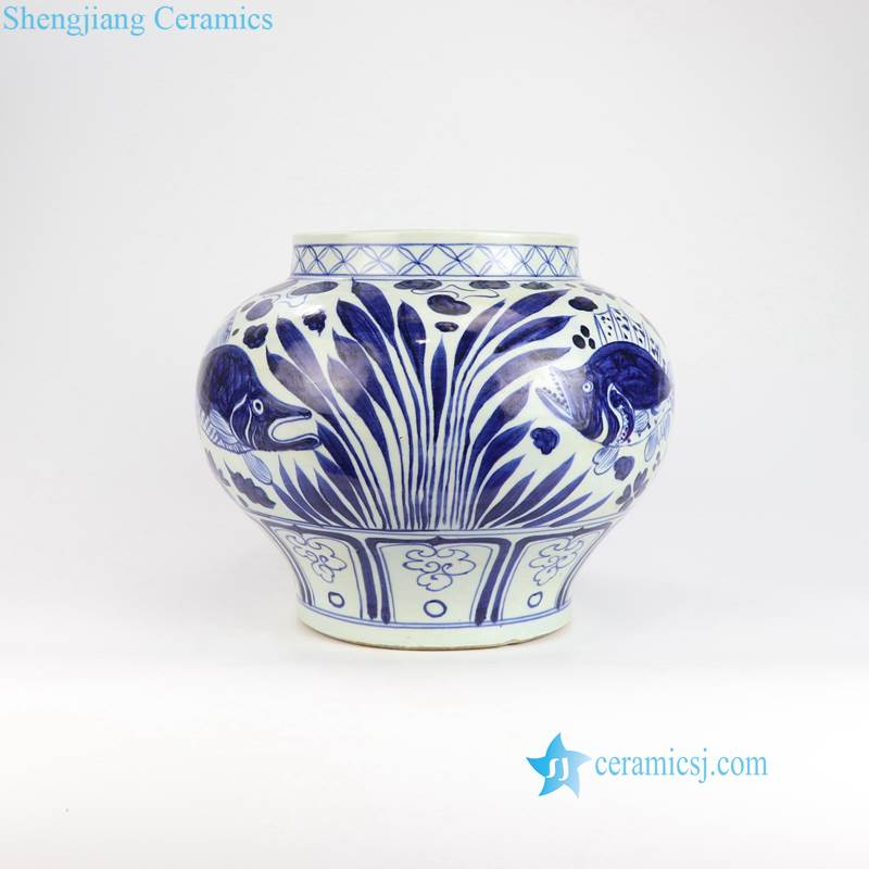 fish ceramic pot