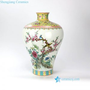 RZLS03 Qing Dynasty Qianlong emperor period famille rose hand drawing porcelain vase