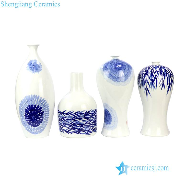 hand painted modern vase