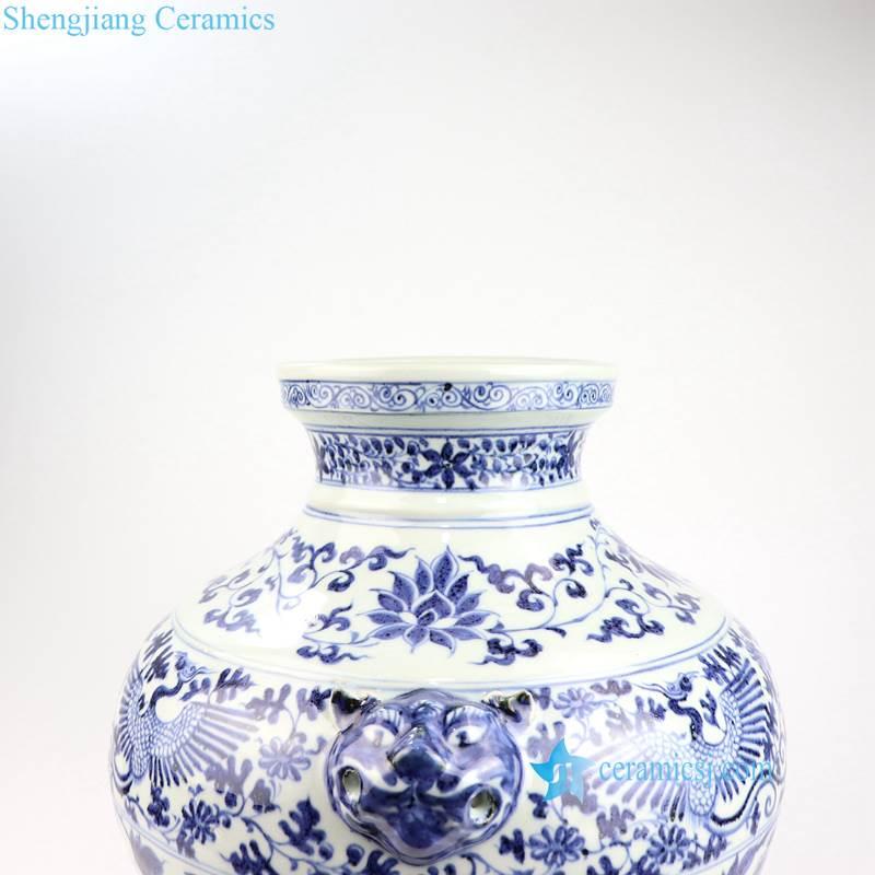 Ming Dynasty floral porcelain vase