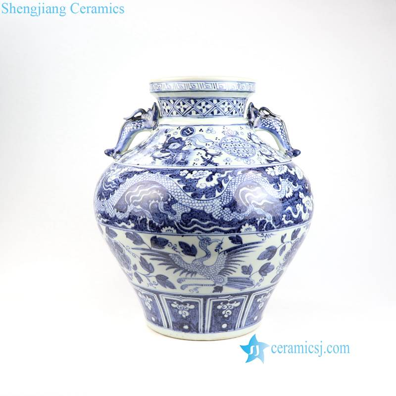 China dragon phoenix porcelain vase