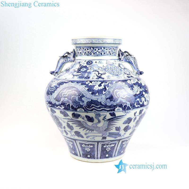 China dragon phoenix porcelain vase
